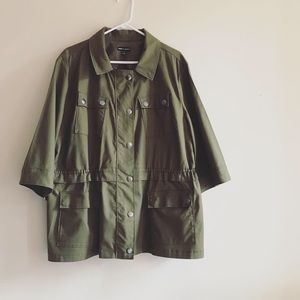 Canvas Military Jacket (Glamour X Lane Bryant)